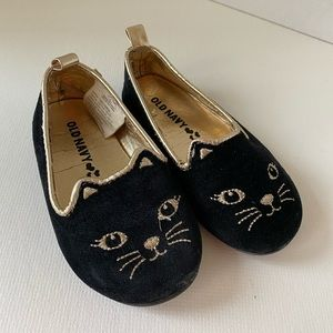 Old Navy kitty shoes velvet size little girl 6